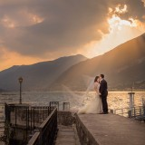 Sun rays bridal couple at Grand Hotel Villa Serbelloni wedding v
