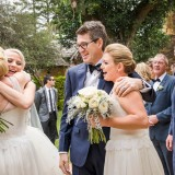 Congratulations bridal party at Deux Belettes wedding Byron Bay