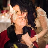 Spicers Peak Lodge Wedding Grandparents moment loving embrace