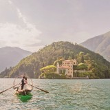 Lucia Traditional rowing boat at Villa del Balbianello wedding v