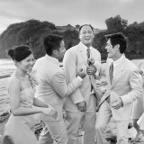 Bali Alila Soori Wedding Villa Bridal Party Laughing and enjoyin