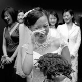 St Johns Cathedral Wedding Brisbane tears of joy tea ceremony